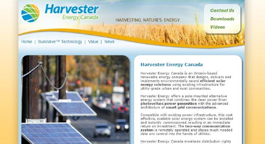 Harvest Energy website